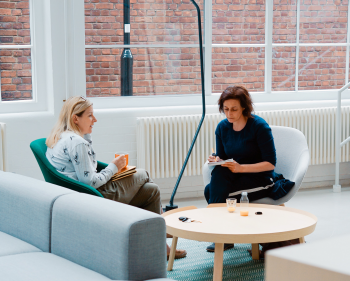 Two women in a therapy session