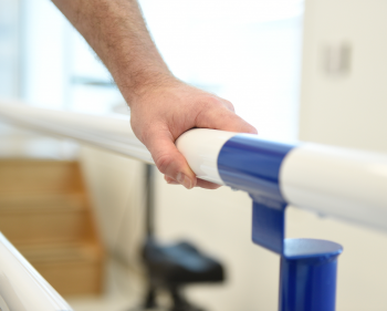 Picture of patient using physio equipment