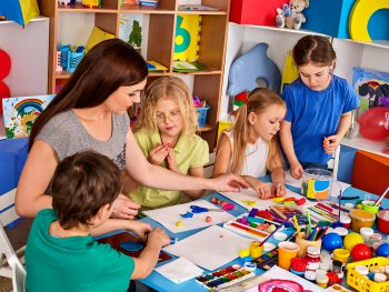Young children play in nursery