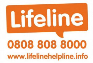 Lifeline logo call 08088088000