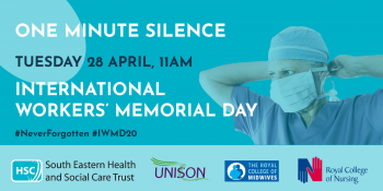 One Minute Silence for International Workers Memorial Day