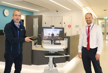NUC delivering technology for virtual visiting to Ulster Hospital Wards